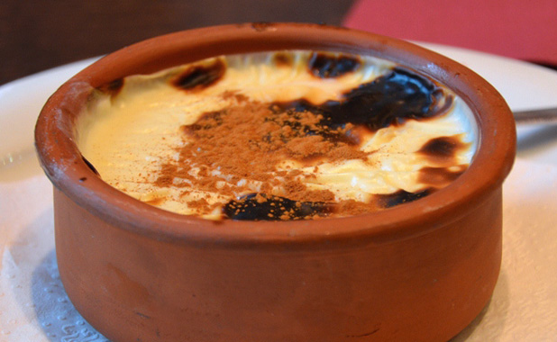 Traditional baked rice pudding
