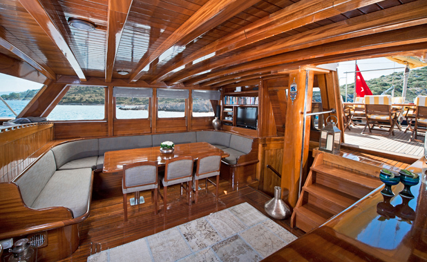 Large luxury yacht for family sailing vacations Greek Islands
