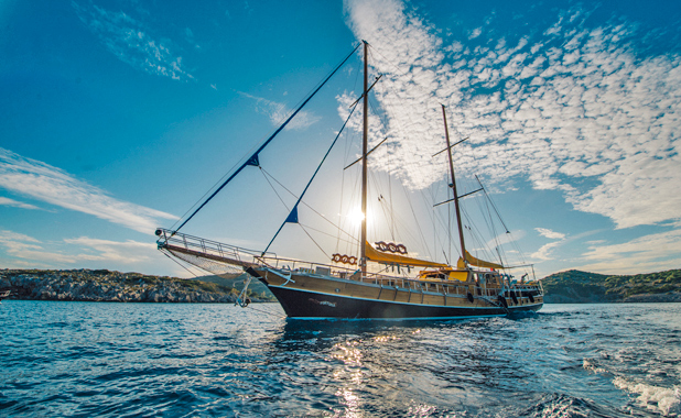 Large yacht for 14 guest private charter in Greece & Turkey