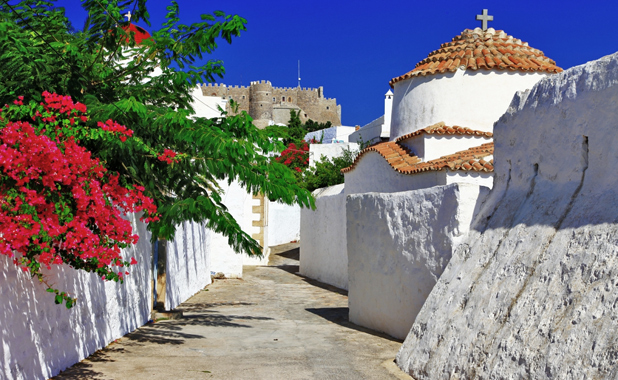 Dodecanese Greek Island of Patmos By Luxury yacht Charter