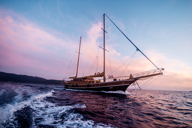Large gulet yacht for private or cabin charter vacations