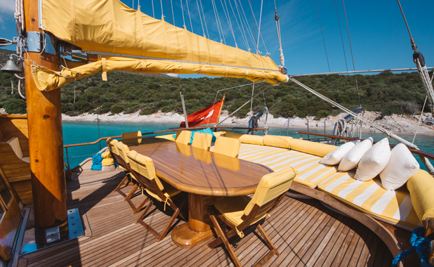 Private boat charter in the Greek islands