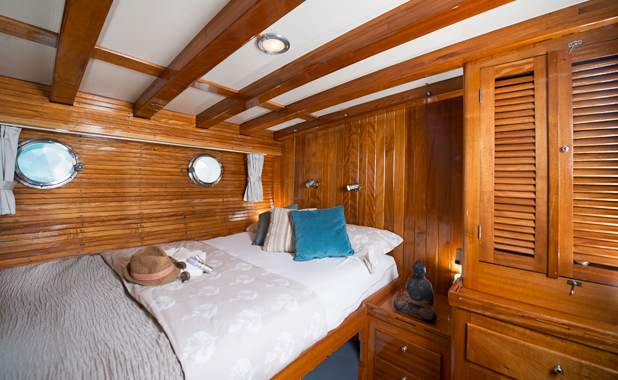 Luxury cabins on large yacht for private sailing charter holidays