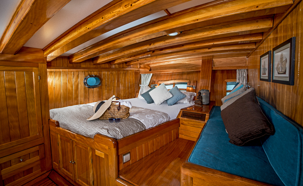 Large luxury cabins for charter sailing vacations