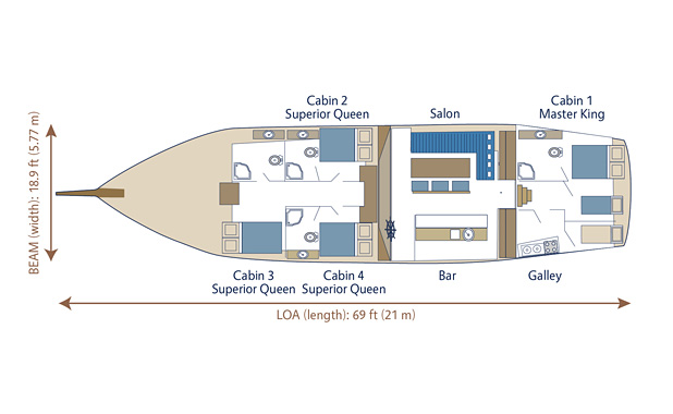 Yacht plan layout for M/S Nikola