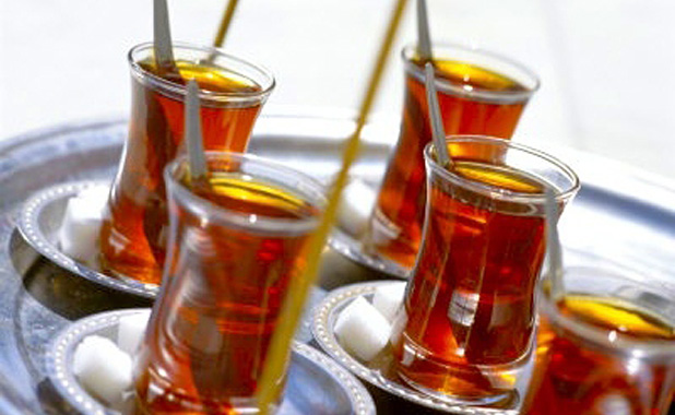 The much loved black Turkish tea, or cay